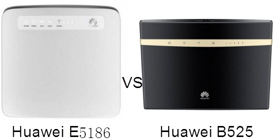 Which is Better, Huawei B525 or Huawei E5186? by vicky2smith on